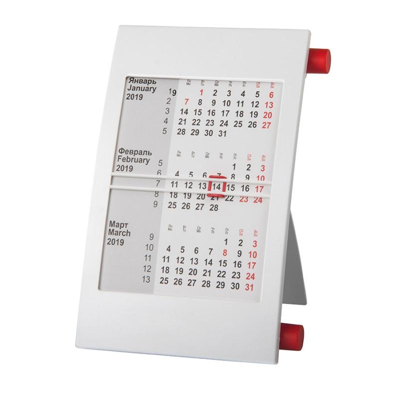 Календарь настольный на 2 года, Красный, -, 9510 08