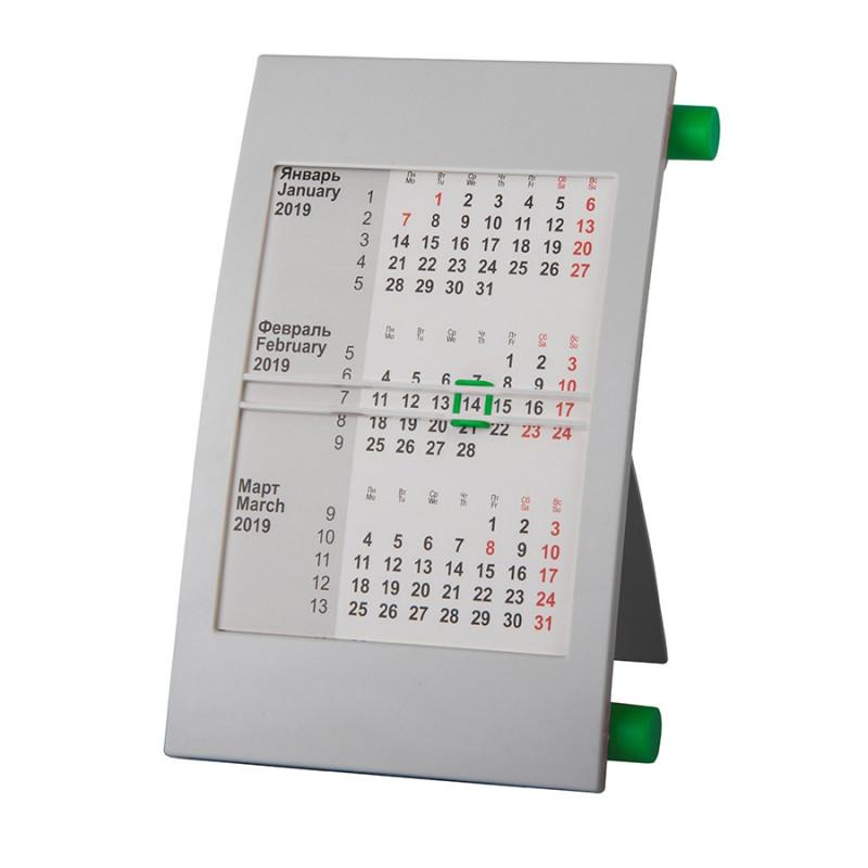Календарь настольный на 2 года, Зеленый, -, 9509 15