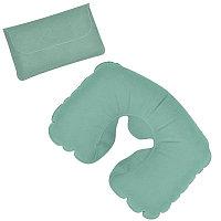Подушка надувная дорожная в футляре, Зеленый, -, 18604 13