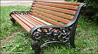 Скамейка с чугунными опорами «София»