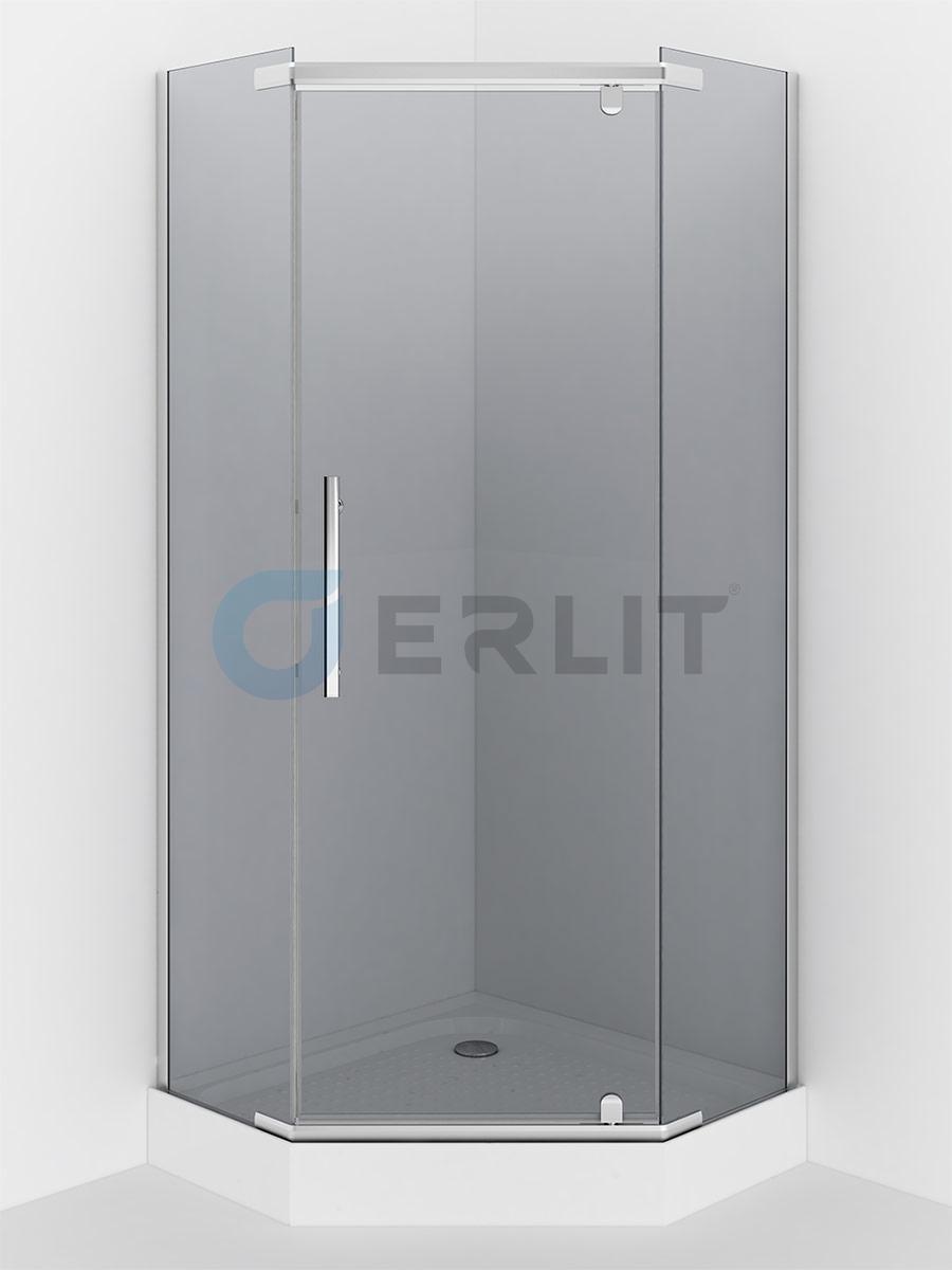Душевое ограждение - ER10109V-C4   900*900*2000 (без поддона) тонированное стекло