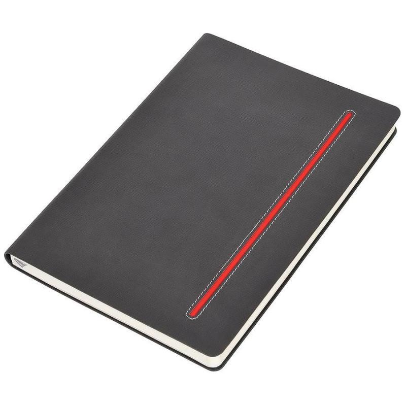 """Бизнес-блокнот А5  """"Elegance"""",  мягкая обложка,  в клетку, Красный, -, 21211 08"""