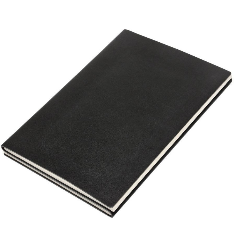 """Бизнес-блокнот А5 """"Twizzy"""", двусторонний, мягкая обложка, линейка/клетка , черный, , 22602"""
