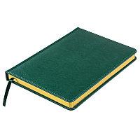 Ежедневник недатированный Joy, А5,  темно-зеленый, белый блок, золотой обрез, Зеленый, -, 24606 17