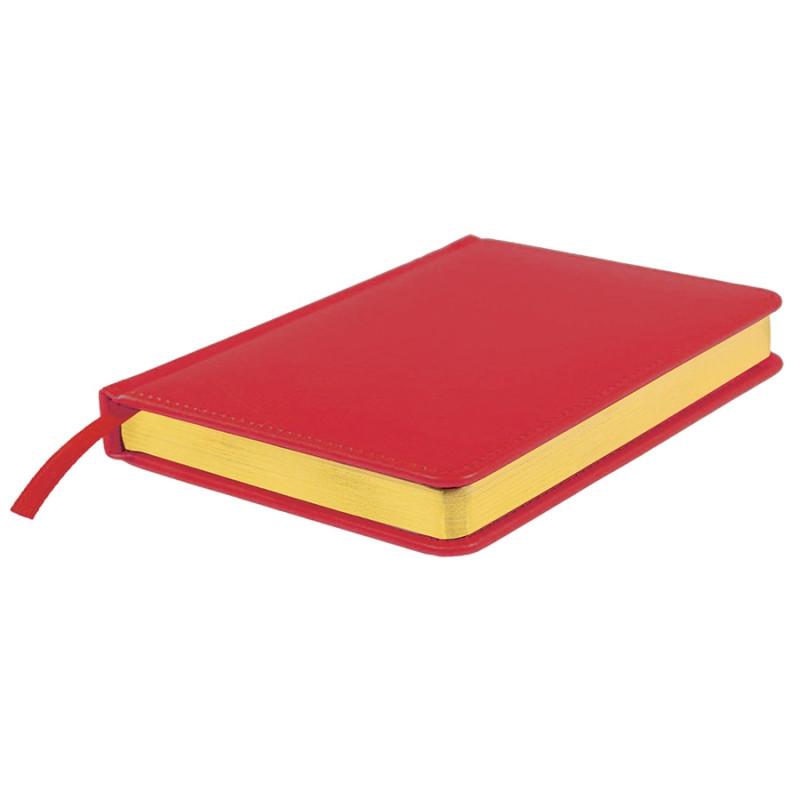 Ежедневник недатированный Joy, А5,  красный, белый блок, золотой обрез, Красный, -, 24606 08
