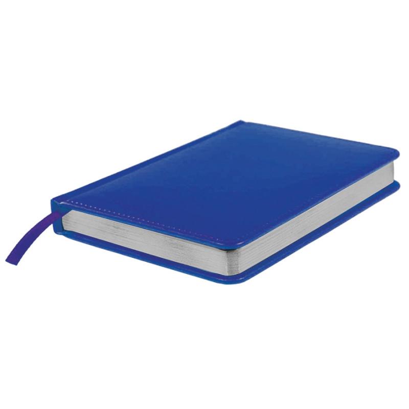 Ежедневник недатированный Joy, А6+,  синий, белый блок, серебряный обрез, Синий, -, 24608 25