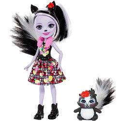 """Enchantimals Кукла """"Энчантималс"""" с питомцем - Седж Скунси, 15 см (FXM72)"""