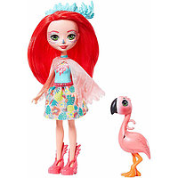 "Enchantimals Кукла ""Энчантималс"" с питомцем - Фенси Флэмин, 15 см (GFN42)"