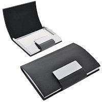 """Визитница  """"Бонн"""" с магнитной застежкой , черный, серый, , 50124"""