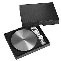 """Универсальный аккумулятор """"UFO"""" (6000mAh) в подарочной коробке,темно-серый,8,6х1,5 см,металл, Серебристый, -,"""