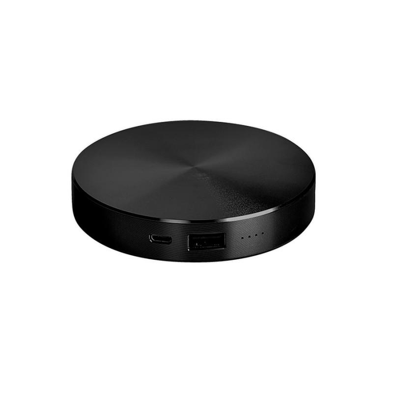 """Универсальный аккумулятор """"UFO"""" (6000mAh) в подарочной коробке, черный,8,6х1,5 см,металл, Черный, -, 23801 35"""