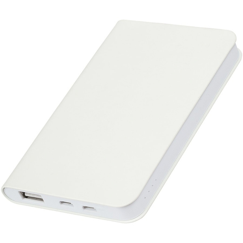 """Универсальный аккумулятор """"Softi"""" (4000mAh),белый, 7,5х12,1х1,1см, искусственная кожа, пластик, Белый, -,"""