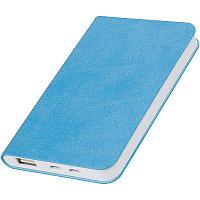 """Универсальный аккумулятор """"Softi"""" (4000mAh),голубой, 7,5х12,1х1,1см, искусственная кожа,пл, Голубой, -, 23100, фото 1"""