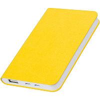 """Универсальный аккумулятор """"Softi"""" (4000mAh),желтый, 7,5х12,1х1,1см, искусственная кожа,пласт, Желтый, -, 23100"""