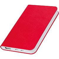 """Универсальный аккумулятор """"Softi"""" (4000mAh),красный, 7,5х12,1х1,1см, искусственная кожа,пл, Красный, -, 23100"""