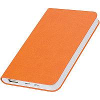 """Универсальный аккумулятор  """"Softi"""" (4000mAh),оранжевый, 7,5х12,1х1,1см, искусственная кожа,пл, Оранжевый, -,"""