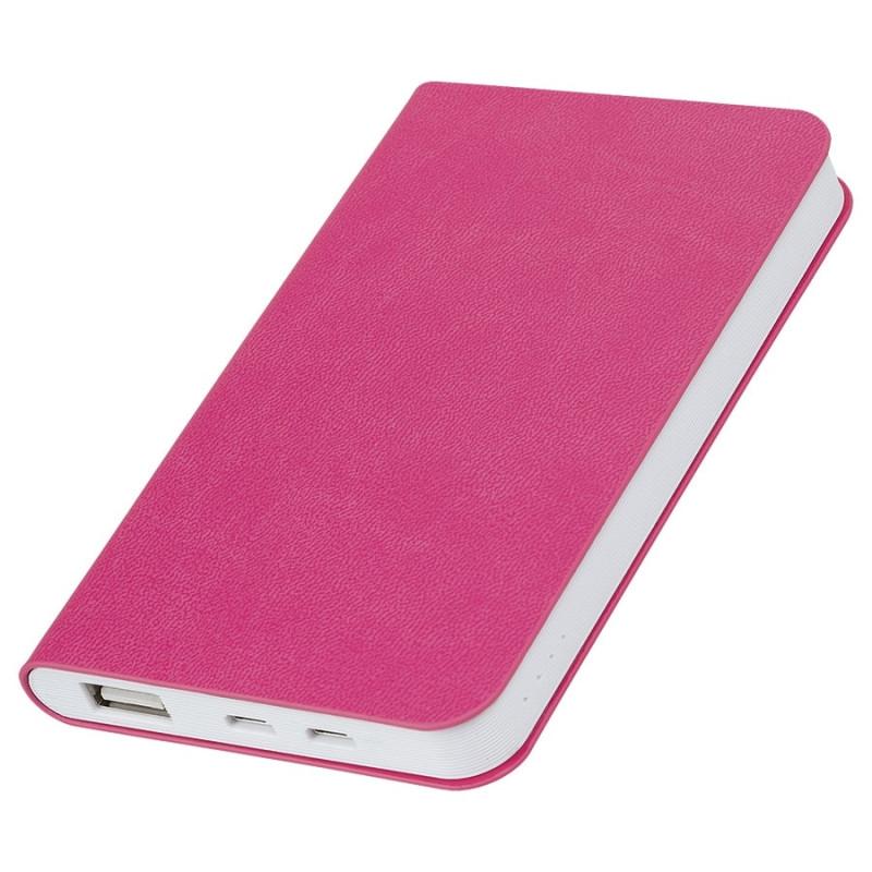 """Универсальный аккумулятор """"Softi"""" (4000mAh),розовый, 7,5х12,1х1,1см, искусственная кожа,плас, Розовый, -,"""