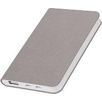 """Универсальный аккумулятор """"Softi"""" (4000mAh),серый, 7,5х12,1х1,1см, искусственная кожа,пласти, Серый, -, 23100"""