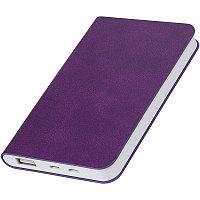 """Универсальный аккумулятор """"Softi"""" (4000mAh),фиолетовый, 7,5х12,1х1,1см, искусственная кожа, Фиолетовый, -,"""