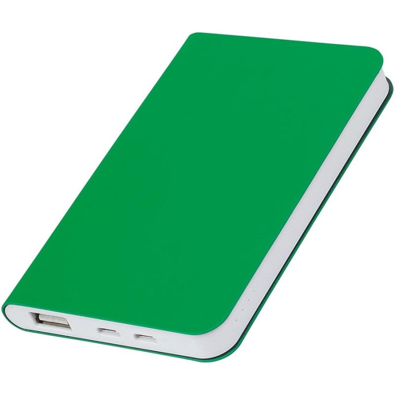 """Универсальный аккумулятор """"Silki"""" (4000mAh),зеленый, 7,5х12,1х1,1см, искусственная кожа,плас, Зеленый, -,"""