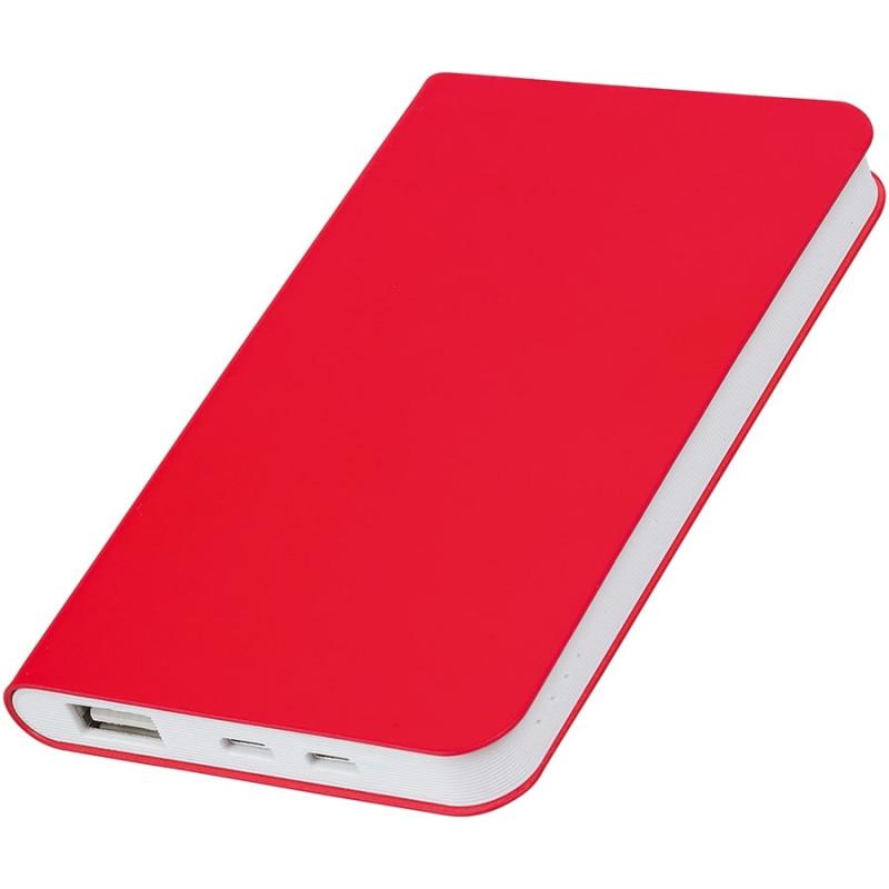 """Универсальный аккумулятор """"Silki"""" (4000mAh),красный, 7,5х12,1х1,1см, искусственная кожа,плас, Красный, -,"""