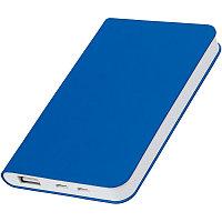 "Универсальный аккумулятор ""Silki"" (4000mAh),синий, 7,5х12,1х1,1см, искусственная кожа,пласти, Синий, -, 23102"