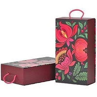 """Упаковка подарочная, коробка  """"Калинка"""", складная, бордовый, , 20403"""