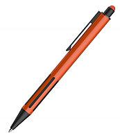 Ручка шариковая со стилусом IMPRESS TOUCH, прорезиненный грип, Оранжевый, -, 40304 05