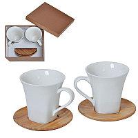 """Набор  """"Натали"""": две чайные пары в подарочной упаковке, коричневый, белый, , 21500"""