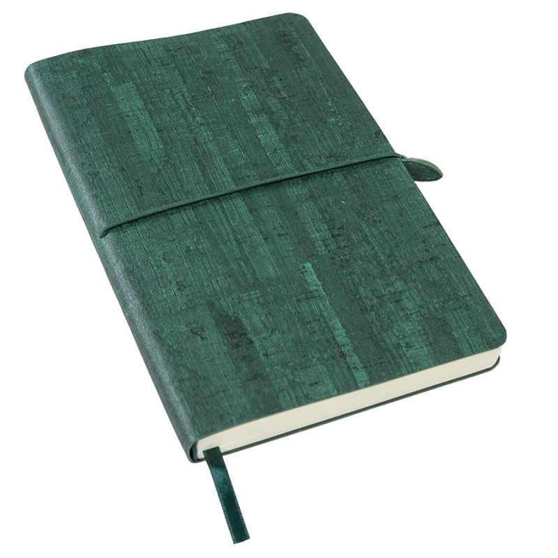Ежедневник недатированный Woody, А5,  темно-зеленый, кремовый блок, без обреза, Зеленый, -, 24703 17