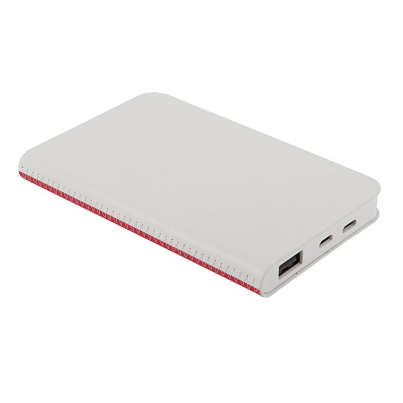 """Универсальный аккумулятор """"Franki"""" (4000mAh),белый с красным, 7,5х12,1х1,1см, Белый, -, 23104 08"""