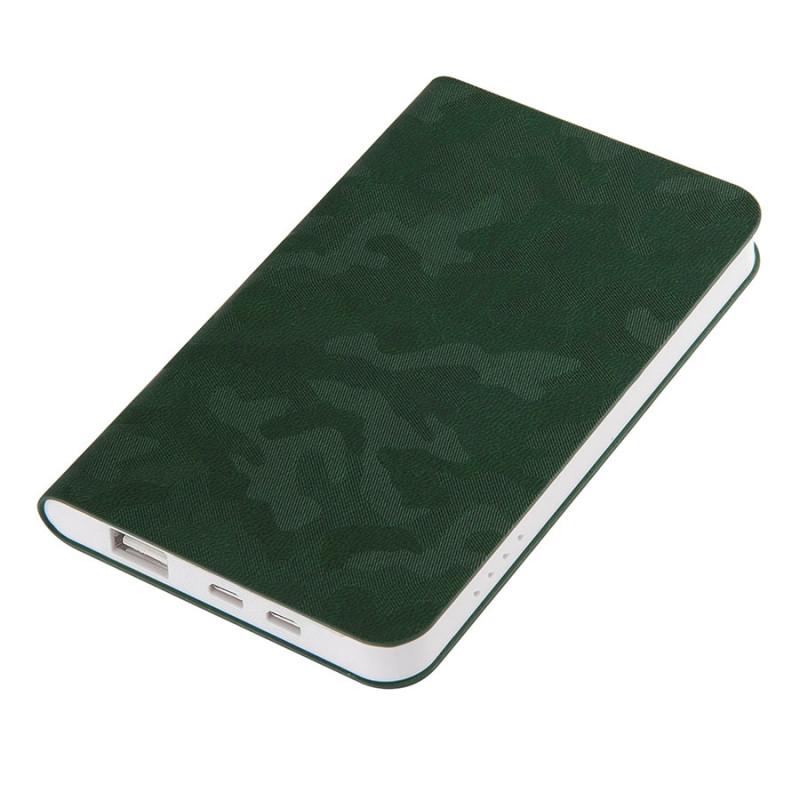 "Универсальный аккумулятор ""Tabby"" (4000mAh), зеленый, 7,5х12,1х1,1см, Зеленый, -, 23105 15"