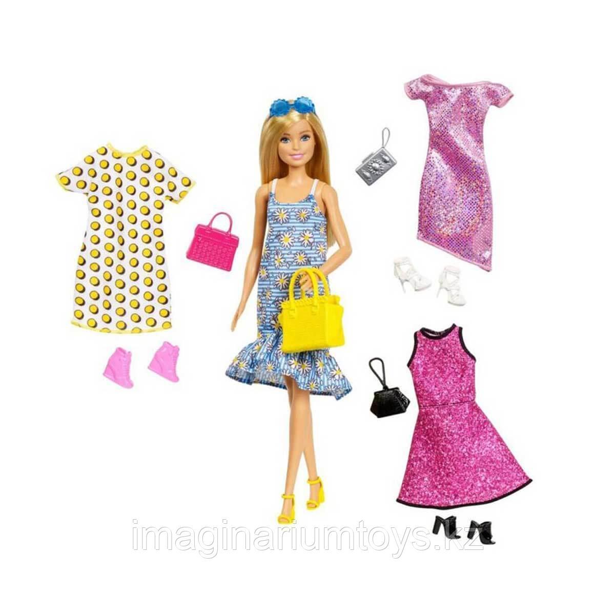 Кукла Барби с одеждой, обувью и акессуарами в наборе