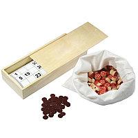 Русское лото в деревянной коробке , бежевый, , 20814