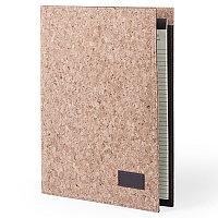 Папка HOYEB A4 с бумажным блоком, пробковая ткань, бежевый, бежевый, , 345027