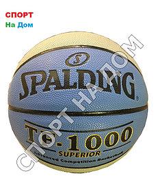 Баскетбольный мяч Spalding TF-1000 SUPERIOR (Сине-серый)