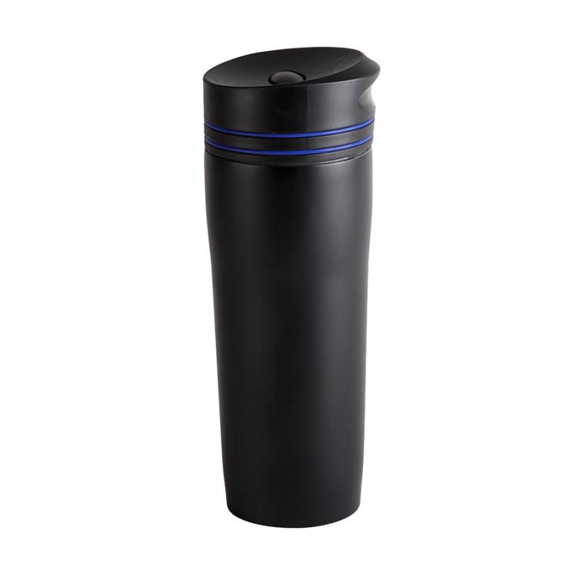 Термокружка вакуумная STRIPE, 380 мл, Черный, -, 45000 24