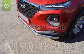 Защита переднего бампера, круглая для Hyundai Santa Fe ( 2018-), фото 2
