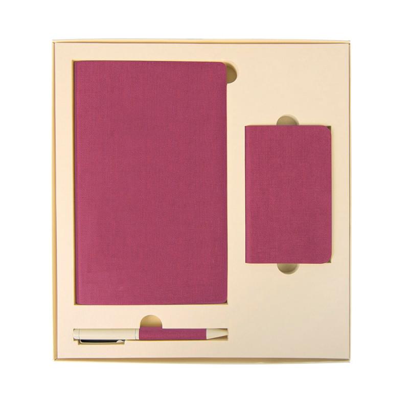 Набор подарочный PROVENCE: универсальное зарядное устройство (4000мАh), блокнот и ручка, Бежевый, -, 20220 10