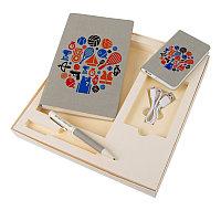 Набор подарочный PROVENCE: универсальное зарядное устройство (4000мАh), блокнот и ручка, Бежевый, -, 20220 139
