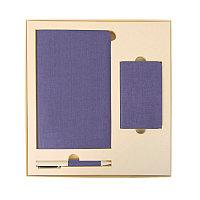 Набор подарочный PROVENCE: универсальное зарядное устройство (4000мАh), блокнот и ручка, Бежевый, -, 20220 126