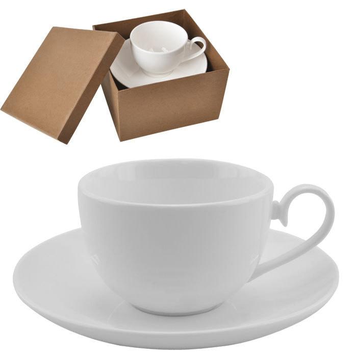 """Чайная пара  """"Классика"""" в подарочной упаковке, белый, , 13610"""