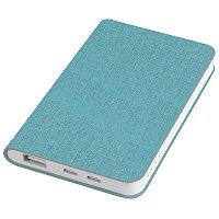 """Универсальный аккумулятор """"Provence"""" (4000mAh),голубой,7,5х12,1х1,1см, искусственная кожа,пл, Голубой, -,"""
