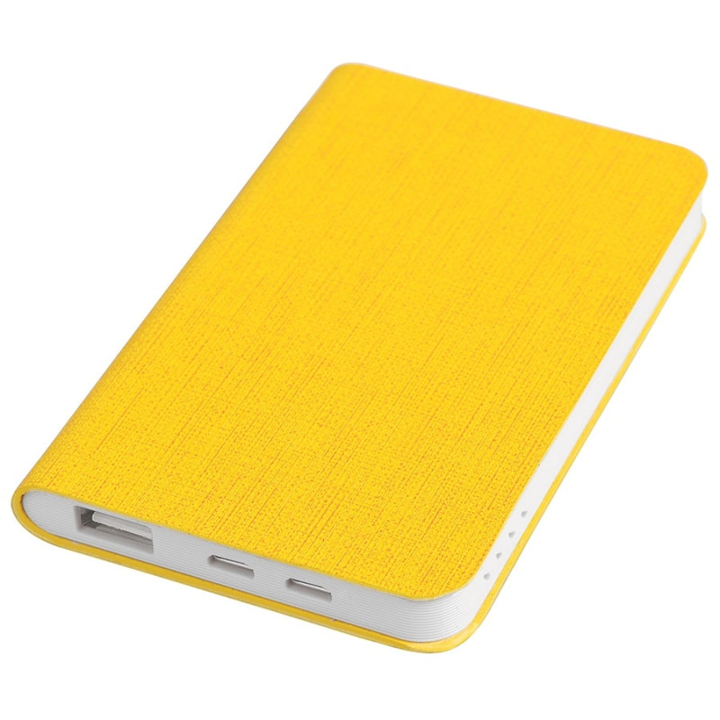 "Универсальный аккумулятор ""Provence"" (4000mAh),желтый, 7,5х12,1х1,1см, искусственная кожа,пл, Желтый, -, 23103"