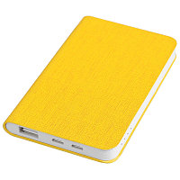 "Универсальный аккумулятор ""Provence"" (4000mAh),желтый, 7,5х12,1х1,1см, искусственная кожа,пл, Желтый, -, 23103, фото 1"
