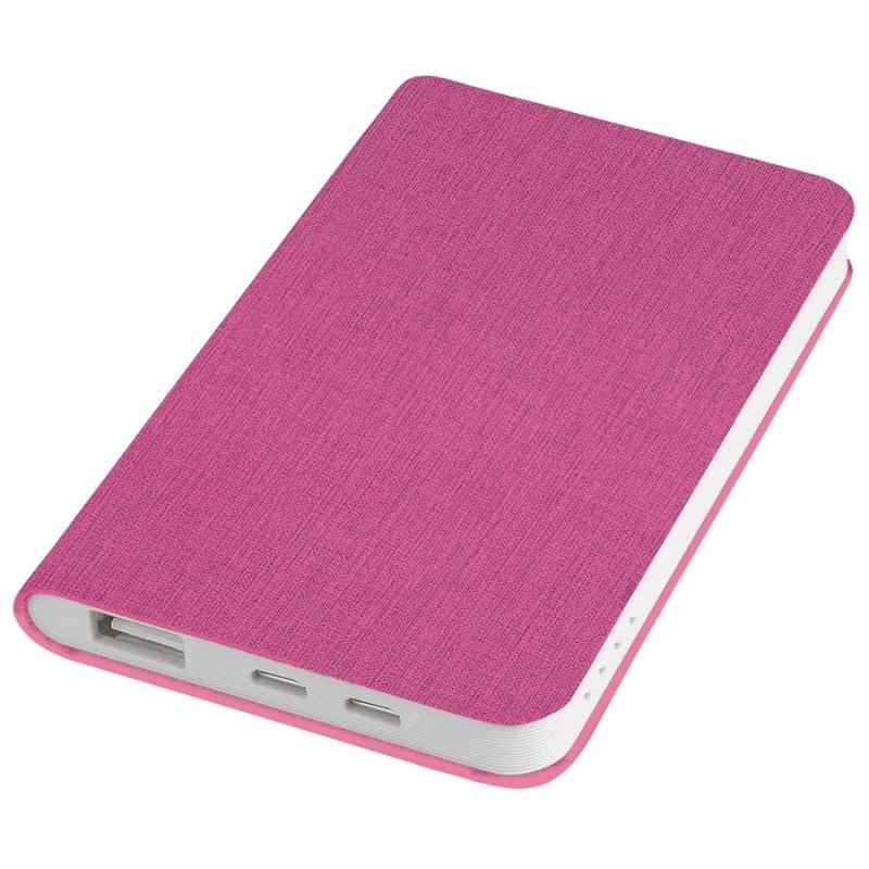 """Универсальный аккумулятор """"Provence"""" (4000mAh),розовый,7,5х12,1х1,1см, искусственная кожа,пл, Розовый, -,"""