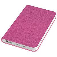 """Универсальный аккумулятор """"Provence"""" (4000mAh),розовый,7,5х12,1х1,1см, искусственная кожа,пл, Розовый, -,, фото 1"""