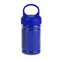 Полотенце спортивное в пластиковом боксе с карабином ACTIVE, Синий, -, 11920 24