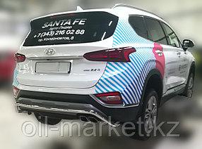Защита заднего бампера, волна для Hyundai Santa Fe ( 2018-), фото 2