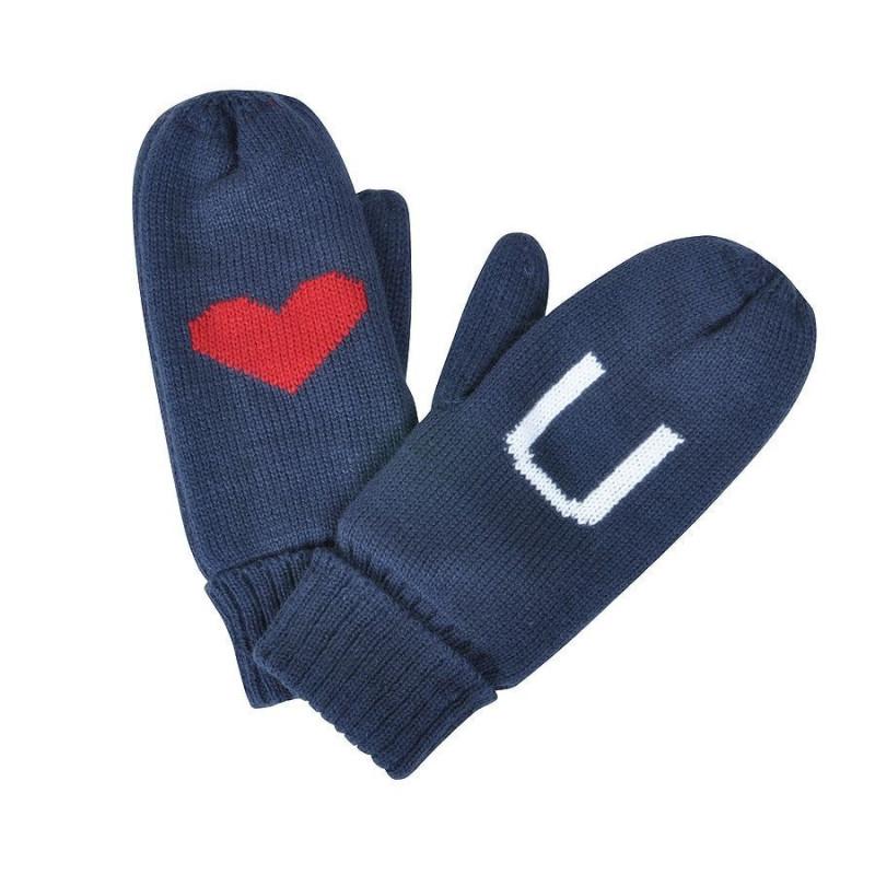 """Варежки """"LOVE YOU"""" с теплой подкладкой, Темно-синий, -, 20602 24"""